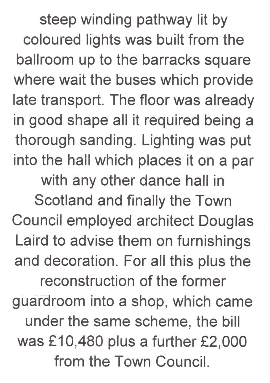 A1 History Dunbar: The Victoria Ballroom